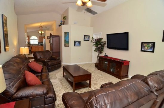 open plan, beautifully decorated